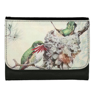 Hummingbird Birds Animals Wildlife Flowers Wallet