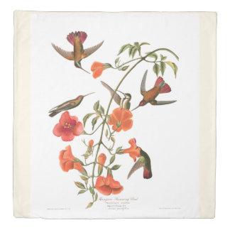 Hummingbird Birds Audubon Flowers Duvet Cover