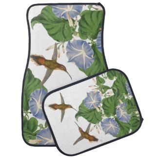 Hummingbird Birds Floral Flowers Floor Mats