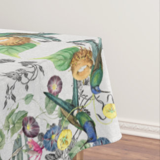 Hummingbird Birds Flower Garden Tablecloth