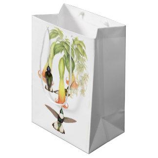 Hummingbird Birds Flowers Animals Gift Bag