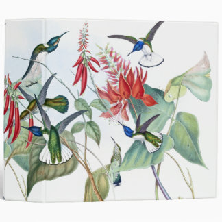 Hummingbird Birds Flowers Animals Wildlife Binder