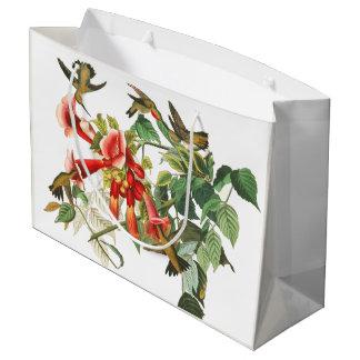 Hummingbird Birds Flowers Audubon Gift Bag