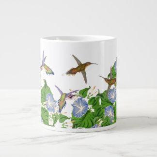 Hummingbird Birds Flowers Floral Jumbo Mug