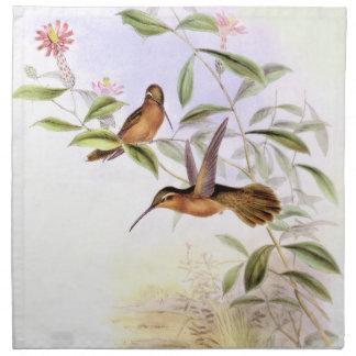 Hummingbird Birds Flowers Floral Wildlife Animals Cloth Napkin