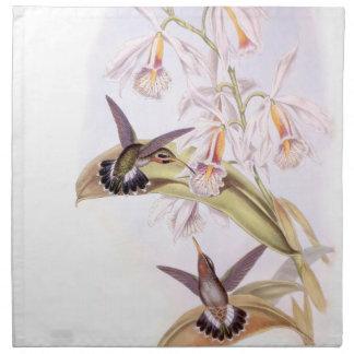 Hummingbird Birds Flowers Floral Wildlife Animals Cloth Napkins