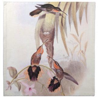 Hummingbird Birds Flowers Floral Wildlife Animals Napkin