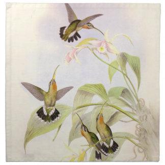 Hummingbird Birds Flowers Floral Wildlife Animals Napkins