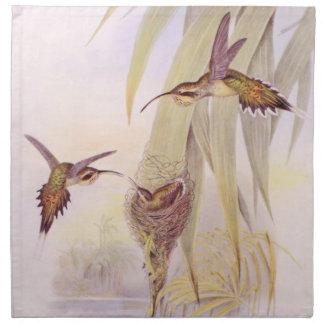 Hummingbird Birds Flowers Floral Wildlife Animals Printed Napkins