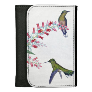 Hummingbird Birds Flowers Floral Wildlife Animals Wallet