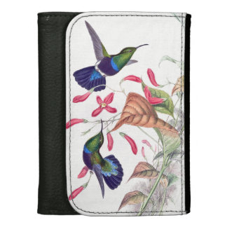 Hummingbird Birds Flowers Floral Wildlife Animals Wallets