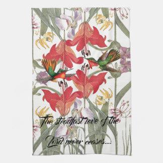 Hummingbird Birds Flowers Gods Love Kitchen Towel