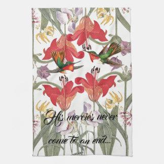 Hummingbird Birds Flowers Gods Mercy Kitchen Towel