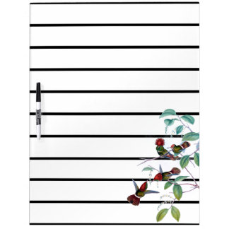 Hummingbird Birds Flowers Planner Dry Erase Board