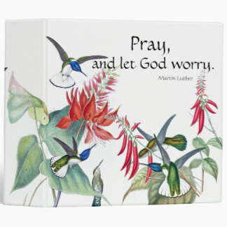 Hummingbird Birds Flowers Pray Binder