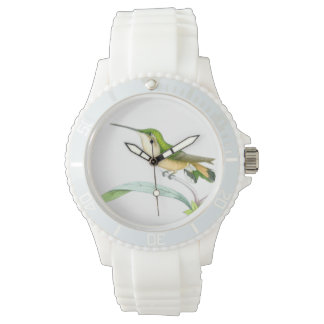 Hummingbird Birds Flowers Wildlife Animals Floral Wristwatch