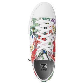 Hummingbird Birds Flowers Zipz Sneakers Shoes