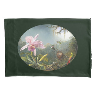 Hummingbird Birds Orchid Flower Floral Pillowcase