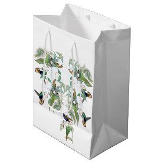 Hummingbird Birds Orchid Flowers Animals Gift Bag