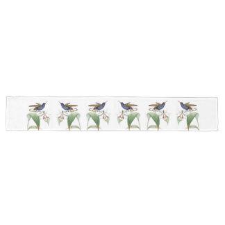 Hummingbird Birds Orchid Flowers Table Runner