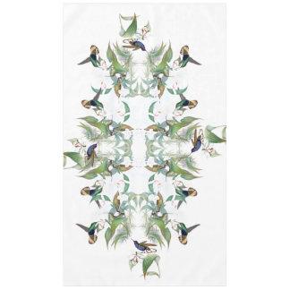 Hummingbird Birds Orchid Flowers Tablecloth