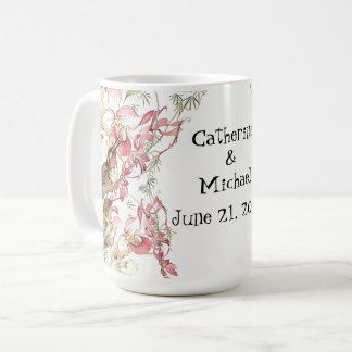 Hummingbird Birds Orchid Flowers Wedding Mug