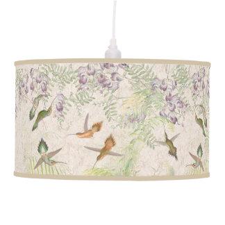Hummingbird Birds Palms Flowers Wildlife Lamp