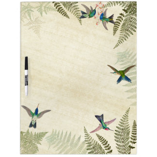 Hummingbird Birds Tropical Ferns Dry Erase Board