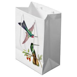 Hummingbird Birds Wildlife Animal Floral Gift Bag