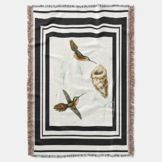 Hummingbird Birds Wildlife Animal Nest Throw