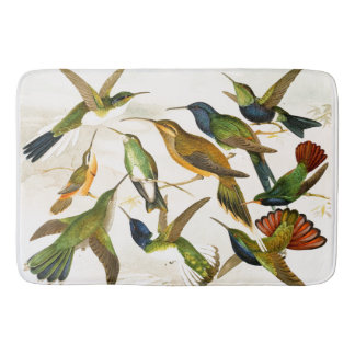 Hummingbird Birds Wildlife Animals Bath Mat