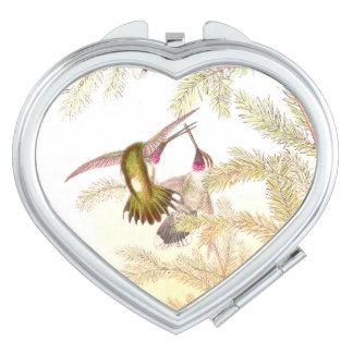 Hummingbird Birds Wildlife Animals Compact Mirror