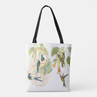 Hummingbird Birds Wildlife Animals Floral Bag