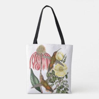 Hummingbird Birds Wildlife Animals Floral Bag