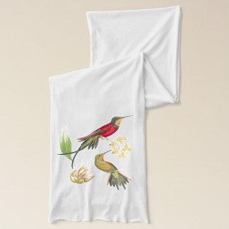 Hummingbird Birds Wildlife Animals Floral Scarf