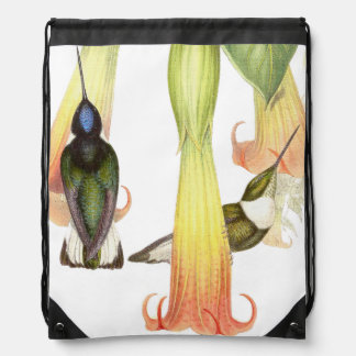 Hummingbird Birds Wildlife Animals Flowers Cinch Bag