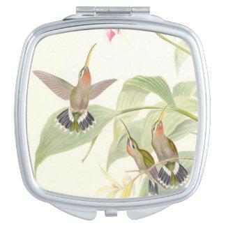 Hummingbird Birds Wildlife Animals Flowers Compact Mirror