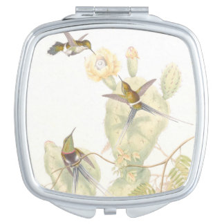 Hummingbird Birds Wildlife Animals Flowers Compact Mirrors