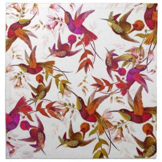 Hummingbird Birds Wildlife Animals Flowers Floral Cloth Napkin