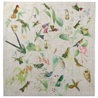 Hummingbird Birds Wildlife Animals Flowers Floral Napkin