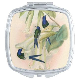 Hummingbird Birds Wildlife Animals Flowers Makeup Mirror