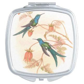 Hummingbird Birds Wildlife Animals Flowers Mirror For Makeup
