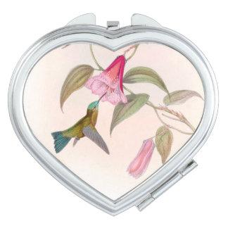 Hummingbird Birds Wildlife Animals Flowers Mirrors For Makeup
