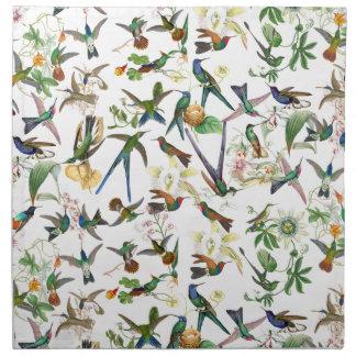 Hummingbird Birds Wildlife Animals Flowers Napkins