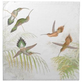 Hummingbird Birds Wildlife Animals Leaves Cloth Napkin