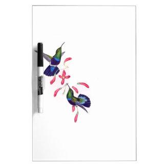 Hummingbird Birds Wildlife Floral Dry Erase Board