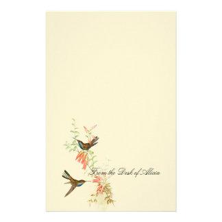 Hummingbird Birds Wildlife Floral Flowers Stationery