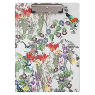 Hummingbird Birds Wildlife Flower Garden Clipboard