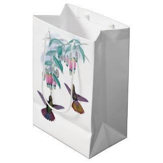 Hummingbird Birds Wildlife Flowers Animal Gift Bag