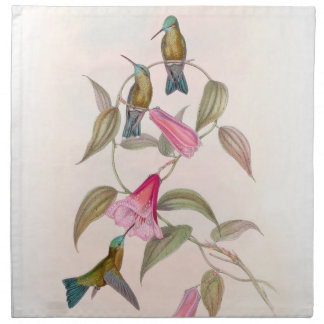 Hummingbird Birds Wildlife Flowers Animals Floral Napkin